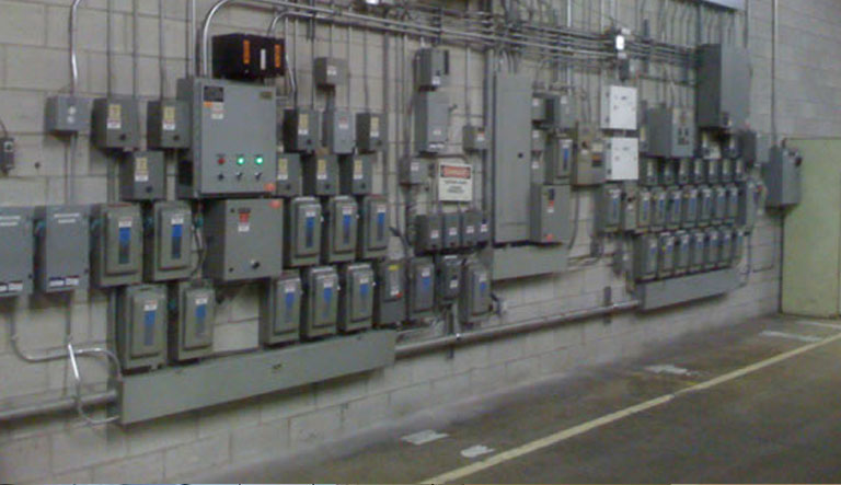 Industrial Electrical: Control panels for production equipment