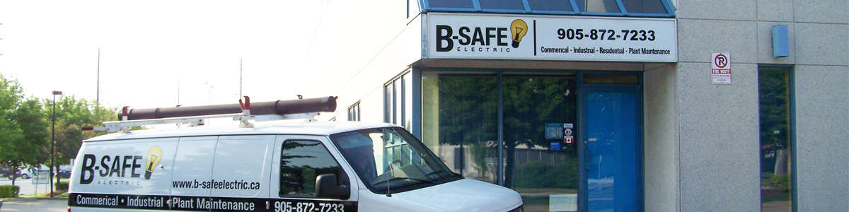 B-Safe Electric Inc., Electrical Contractors. 7050 Telford Way, Unit #6 Mississauga, ON Phone: 905-872-7233