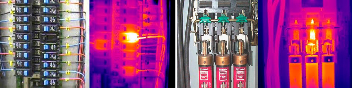 infrared scan can prevent problems. 2 infrared scan samples